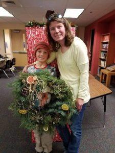 Sunnyside Library Christmas Wreath