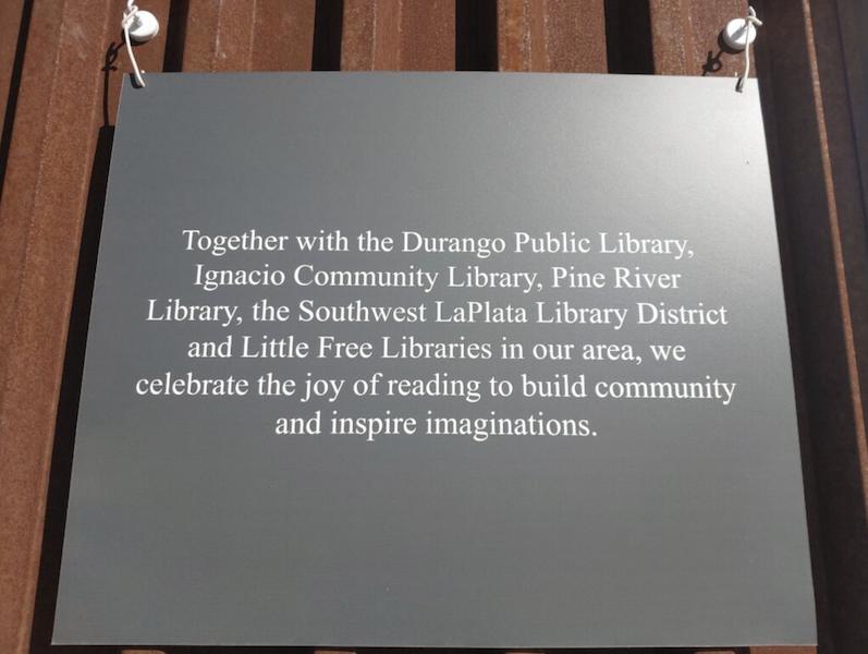 Dedication Plaque - Sunnyside Market, Little Free Librar