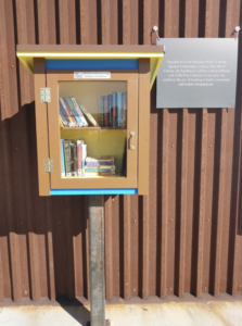 image of the open for business little free library