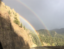 Hwy 550 over Wolf Creek Pass & dbl rainbow